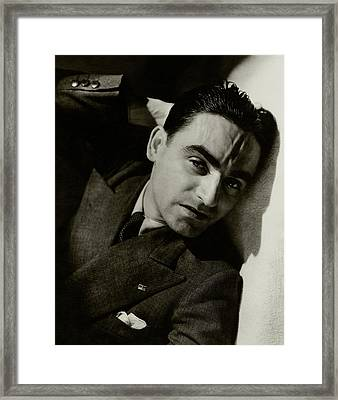 A Portrait Of Paolo Garretto Framed Print by Lusha Nelson