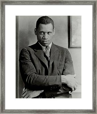 A Portrait Of Paul Robeson Framed Print by Ralph Steiner