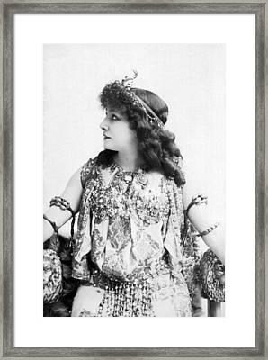 A Portrait Of Sarah Bernhardt Framed Print by Underwood Archives