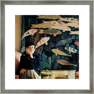 A Portrait Of Truman Capote Framed Print by Horst P. Horst