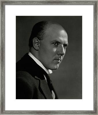 A Portrait Of Walter Gieseking Framed Print by Nickolas Muray