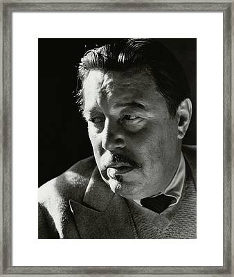 A Portrait Of Warner Oland Framed Print