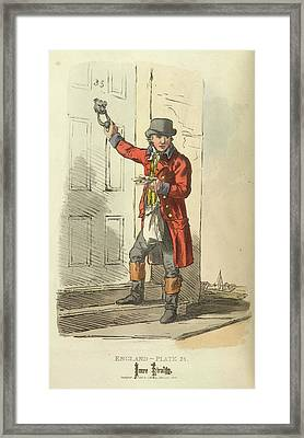 A Postman Framed Print by British Library