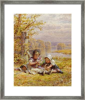 A Posy For Mother Framed Print by William Stephen Coleman