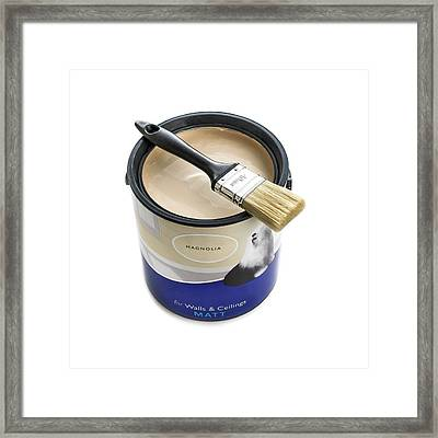 A Pot Of Emulsion Paint Framed Print by Science Photo Library
