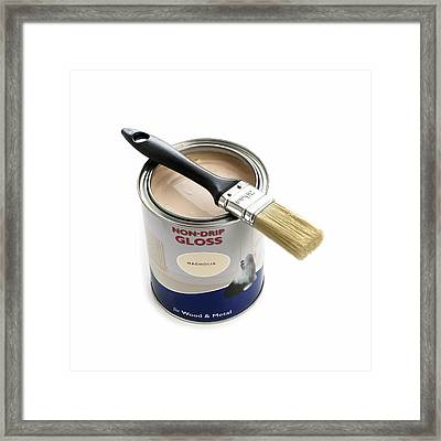 A Pot Of Gloss Paint Framed Print by Science Photo Library