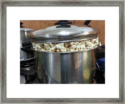 A Pot Of Pop Corn Framed Print by Photostock-israel