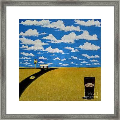 A Prairie Sky Framed Print
