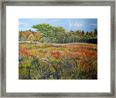 Framed Print featuring the painting A Prairie Treasure by Marilyn  McNish