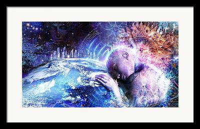Unity Digital Art Framed Prints