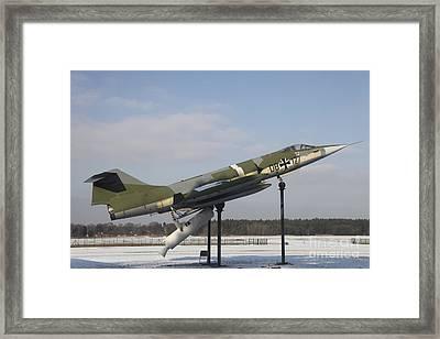 A Preserved F-104g Starfighter Framed Print by Timm Ziegenthaler