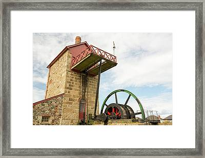 A Preserved Tin Mine Engine House Framed Print