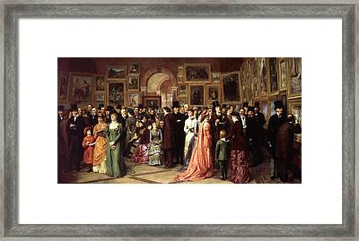 A Private View Framed Print by William Powell Frith