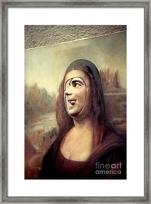 A Profile Of Mona Lisa Framed Print by Michael Hoard