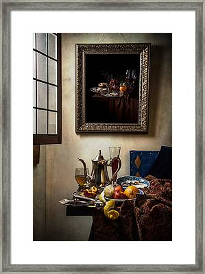 A Pronkstilleven From Vermeer To Kalf Framed Print