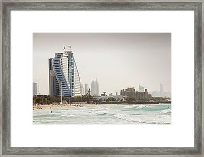 A Public Beach In Dubai Framed Print
