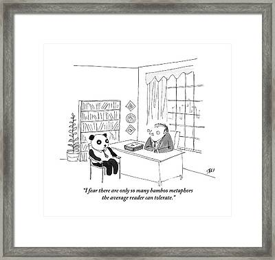 A Publisher Talks To A Prospective Client Framed Print by Edward Steed