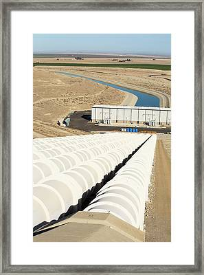 A Pumping Station Sends Water Uphill Framed Print