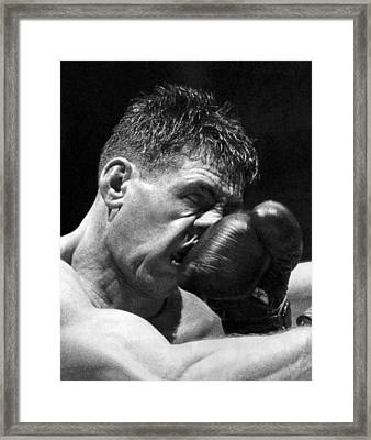 A Punch In The Nose Framed Print by Underwood Archives