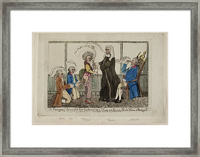 A Purging Draught For Extracting Diamonds Framed Print