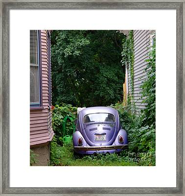 A Purple Car Grows In Madison Framed Print by David Bearden