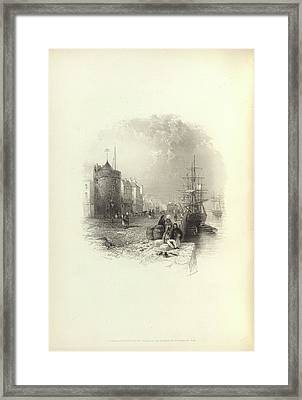 A Quayside Framed Print by British Library