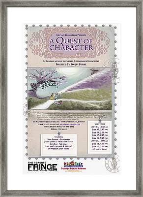 'a Quest Of Character' Poster Framed Print by Naomi McQuade