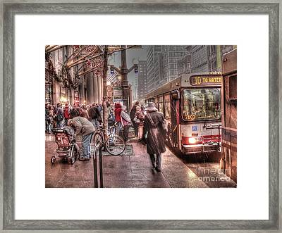 A Queue For Number 10 Framed Print