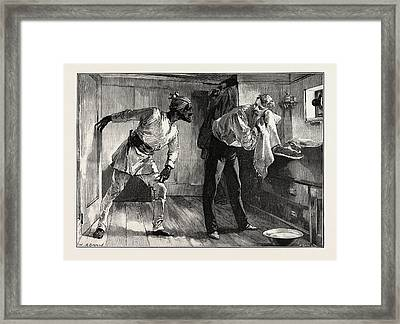 A Quick Question Framed Print by Overend, William Heysham (1851-1898), British