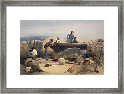 A Quiet Day In The Diamond Battery Framed Print by William 'Crimea' Simpson