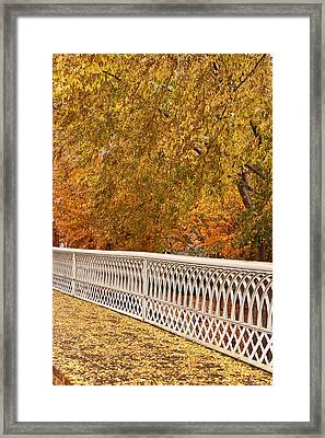 A Quiet Day On The Riverwalk Framed Print by Tom and Pat Cory