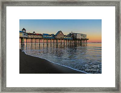 A Quiet Evening At The Pier Framed Print by Joe Faragalli