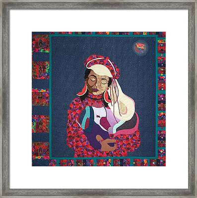 A Quiet Moment Under A Crazy Moon Framed Print by MtnWoman Silver