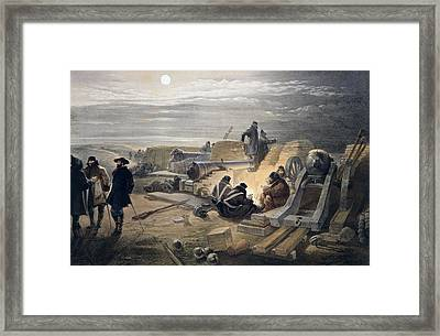A Quiet Night In The Batteries, Plate Framed Print by William 'Crimea' Simpson
