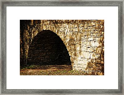 A Quiet Path Through Stone Framed Print by Lincoln Rogers