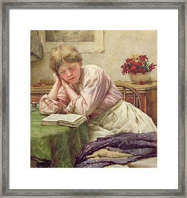 A Quiet Read Framed Print by Walter Langley