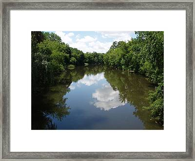 Framed Print featuring the photograph A Quiet River by Teresa Schomig