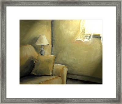 A Quiet Room Framed Print