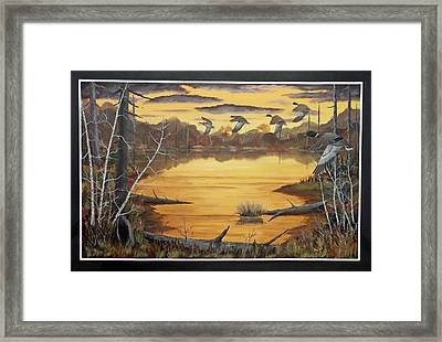 A Quiet Spot Framed Print by Rudolph Bajak