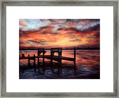 A Quiet Thinking Place Framed Print by Mary Shannon Marshall
