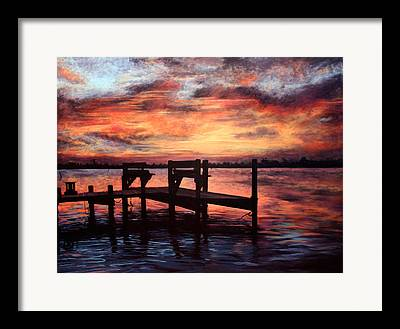 Topsail Island Paintings Framed Prints