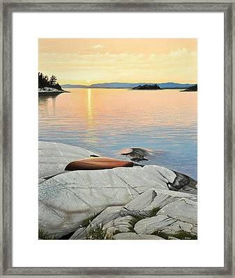 A Quiet Time Framed Print by Kenneth M  Kirsch