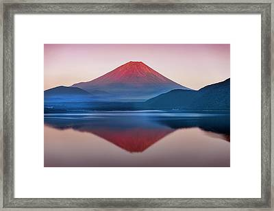 A Quiet Time, Mt,fuji In Japan Framed Print