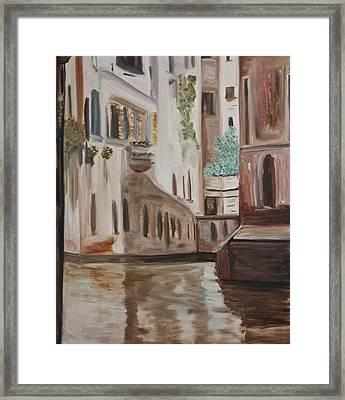 A Quiet Venice Canal Framed Print