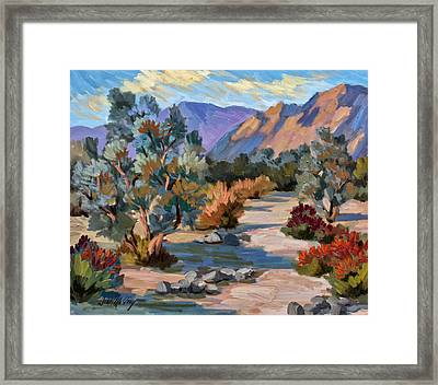 A Quiet Walk In Smoketree Forest Framed Print by Diane McClary