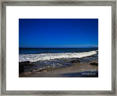 A Quite Walk  ... Framed Print