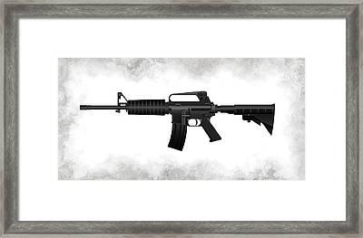 A R 15 Rifle Framed Print by Daniel Hagerman