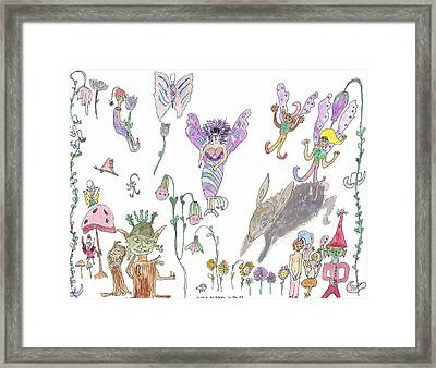A Rabbit And Some Fairies Framed Print