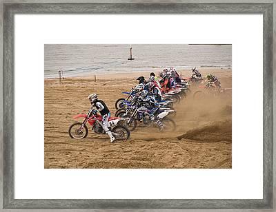 A Racing Start Framed Print