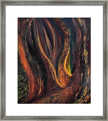 A Radiant Heart Light Framed Print by Daina White